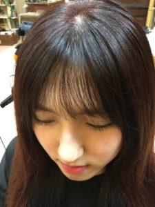 前髪の幅が狭い韓国シースルーバングカットpart3