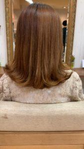 ハイトーン細い毛、軟毛のデジタルパーマ仕上がり画像